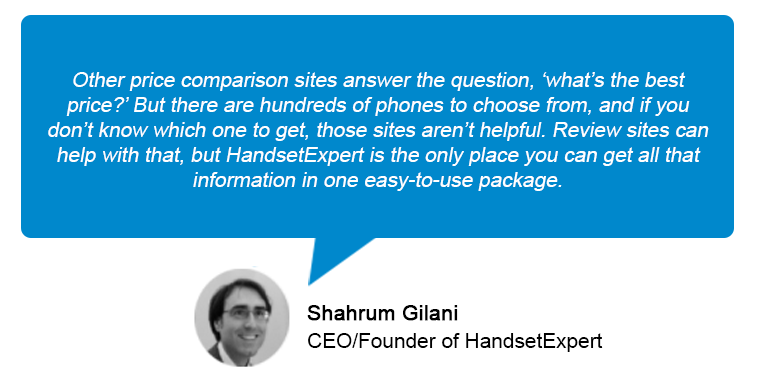 Other pricd comparison sites answer the question 'What's the best price? - Sharhrum Gilani